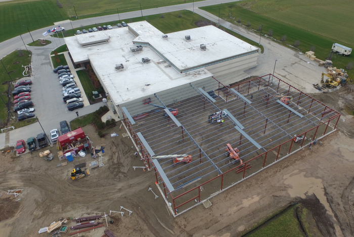 Viking Masek expansion of Oostburg Wisconsin facility
