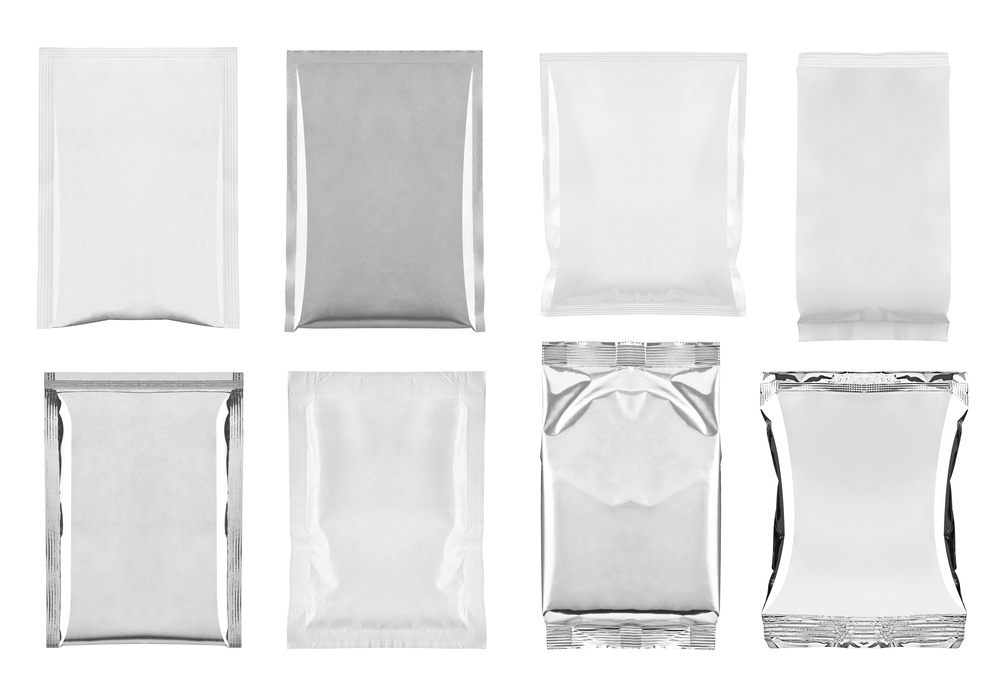 collection of  various white and aluminum bag and packages on white background. each one is shot separately.jpeg